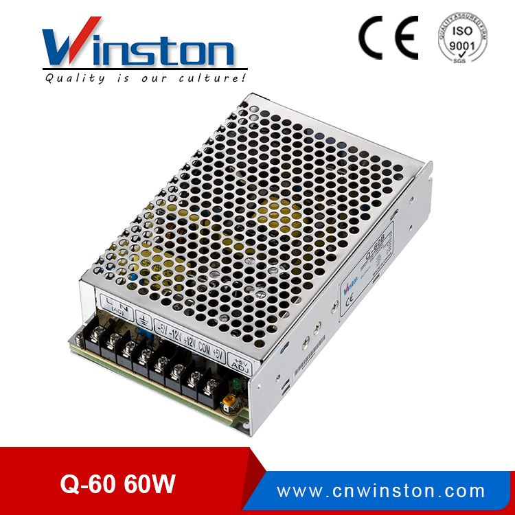 Winston Q-60B 60W Quad Output Switching Power Supply With CE Rohs