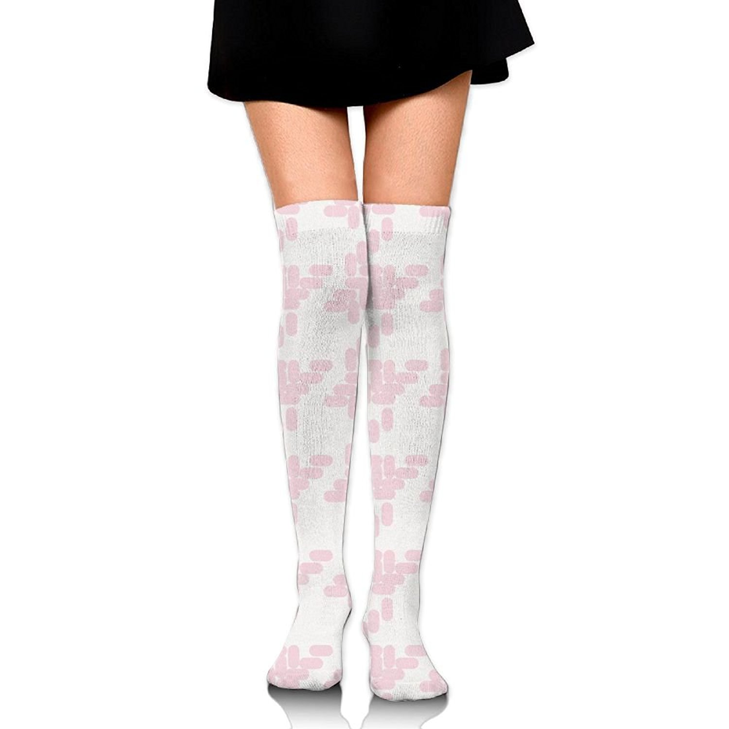 Zaqxsw Dandelion Women Unique Thigh High Socks Cotton Socks For Ladies