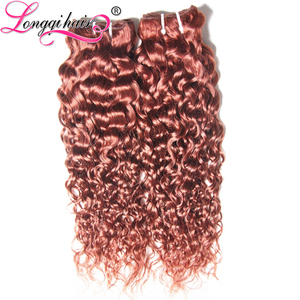 Burmese Hair Weaving Red Curly Hair Extensions Beautiful Color Fashion Afro Kinky Curly Indian Remy Hair Weave