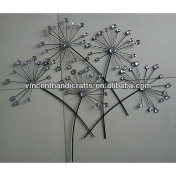 Wall Handing Decoration Handcraft Metal Wire Flower With Artificial