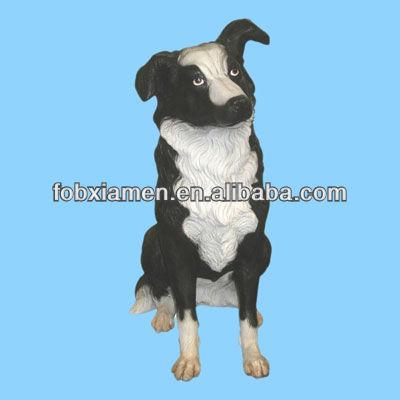 Border Collie Dog Garden Statue