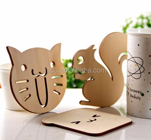 art & Crafts wood animal coaster