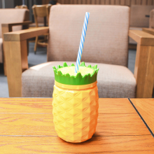 20OZ double wall plastic creative design custom cool gear pineapple cup