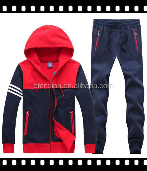 New design mens high quality sport sweat track suit