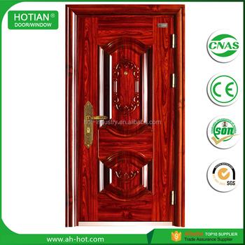 Waterproof Modern Design Steel Front Door , Gate Door Price , Residential  Exterior Door Panels