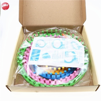 Circular Wool weaving tools for knitting scarf/China wholesale round knitting loom set