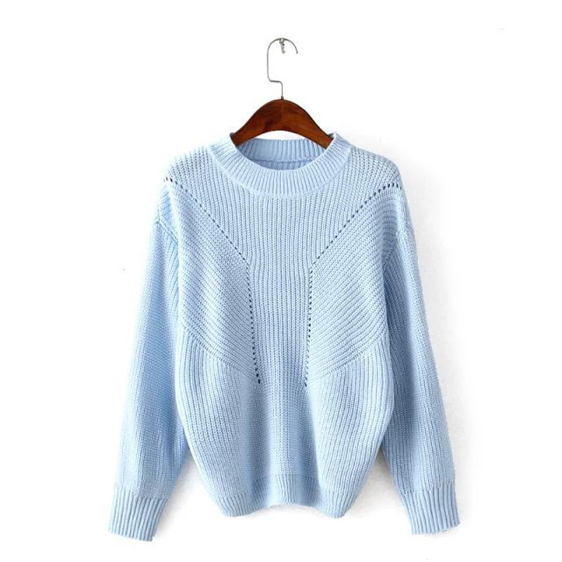 Autumn Winter New Women Knitwear Fashion Jumper Knitted Sweaters Long Sleeve Blouse Pullovers