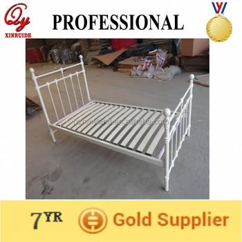 Acero/metal/hierro Cama Individual Con Base De Madera Para Muebles ...