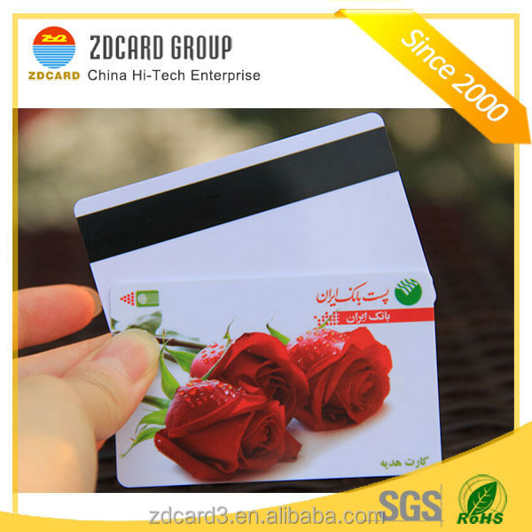 Top quality customized design cr80 standard encoding pvc magnetic card