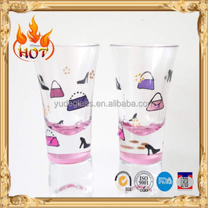 Horn shaped 30ml shot glass drink holder