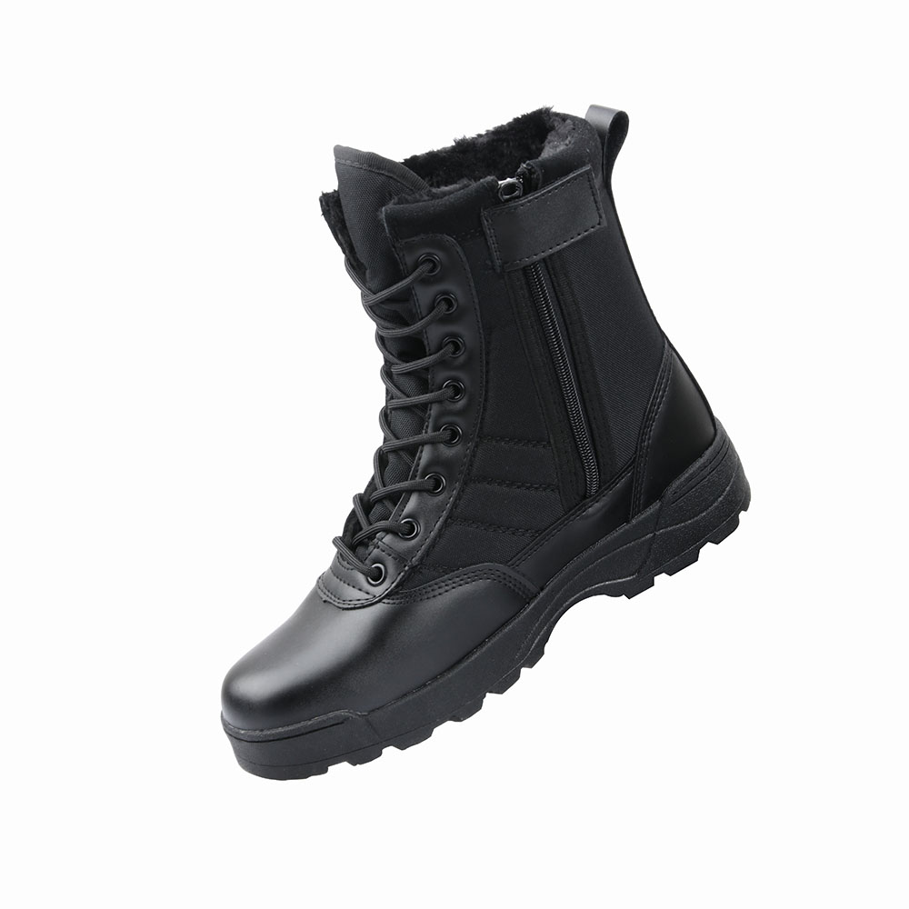 Black Desert Tactical Military Boots Leather Combat Ankle Boots Men's Outdoor Work Shoes Climbing Army Winter Snow Boots