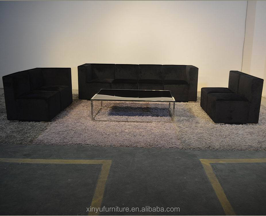 xinyu black color event section sofa XYN6110