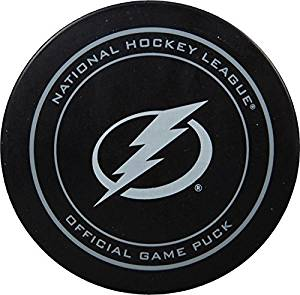 2015 NHL Stanley Cup Playoffs Tampa Bay Lightning Hockey Game Puck in Acrylic Cube