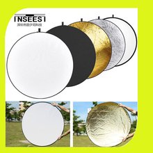 43-inch / 110cm 5-in-1 Portable Foldable Round Studio Photo Collapsible Multi-Disc Light Photographic Lighting Reflector