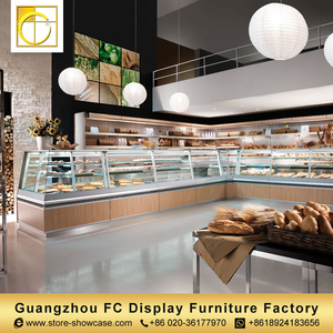 best quality custom store glass food warmer display showcase cake showcase bakery display cabinet shop counter design