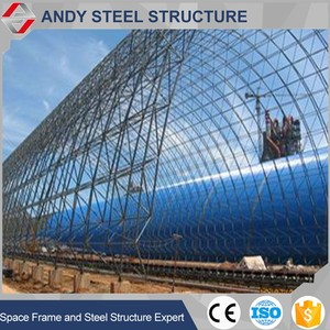 High Quality 2016 newest steel structure geodesic dome dry coal shed