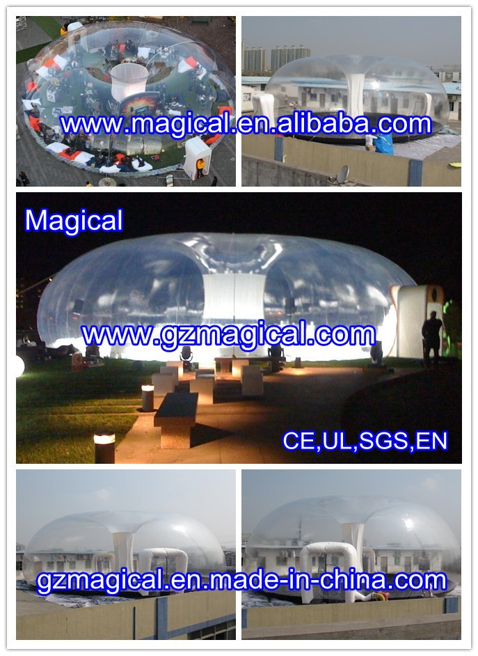 outdoor inflatable clear tent/party event inflatable bubble tent