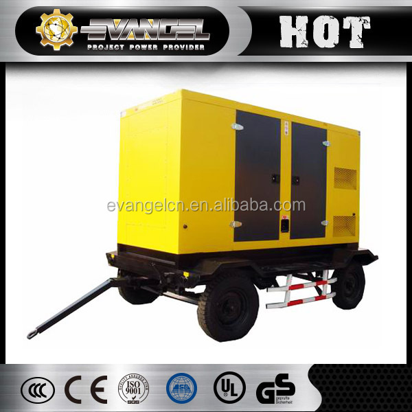 Power supply trailer generator 60HZ 105kva portable silent power generator for sale