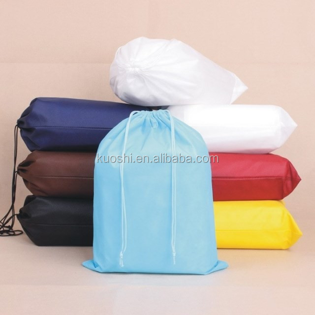 promotional folding non woven drawstring bag packing