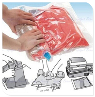 Travel vacuum compression bag space saver hand roll up bag