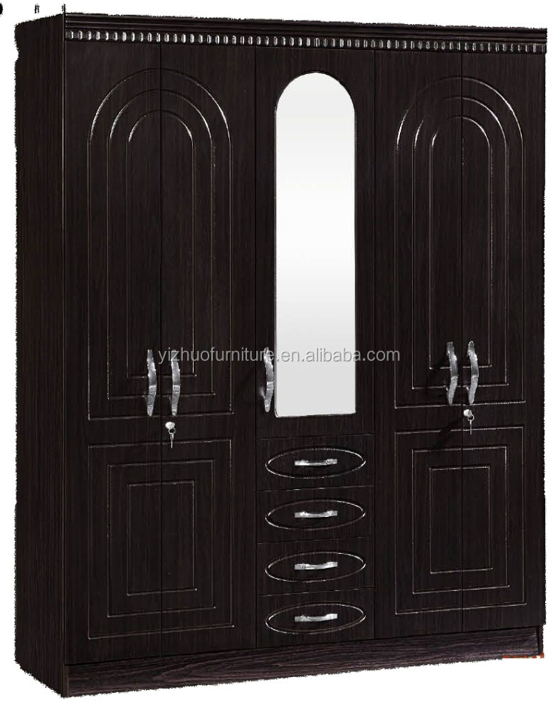 Particle Board,Mdf,Home Furniture 4 Doors Lightweight Portable Mdf Wooden  Wardrobe Closet For Bedroom   Buy Wardrobe Storage,Cheap Storage  Cabinet,Particle ...