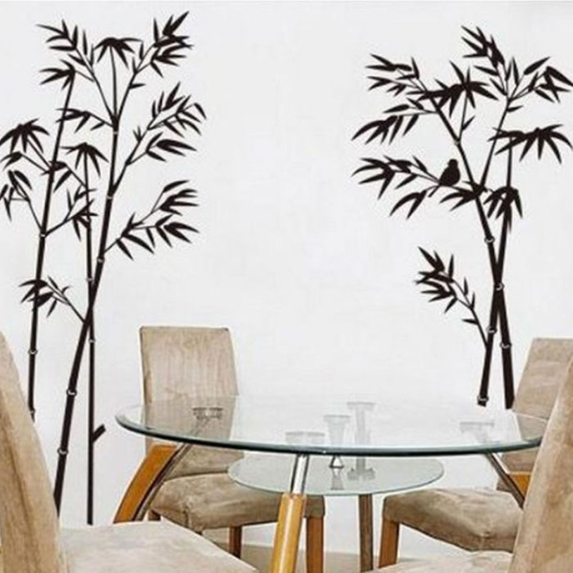Newest Bamboo Mural Home Decor Decals Decorative Removable Craft Art Wall Stickers 60*90cm Quality First