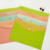 Office stationery filing supplies plastic document pp envelope carrying OEM file folder bag with Buckle lock