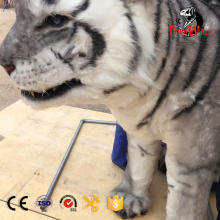 Dino0776 High quality Amusement park lifesize realistic white tiger costume for sale