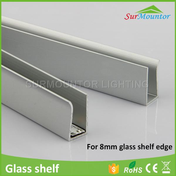8mm glass edge lighting LED Profiles strip light  glass shelf light led  channel8mm Glass Edge Lighting Led Profiles Strip Light Glass Shelf Light  . Glass Shelf Lighting. Home Design Ideas