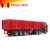3 axles truck cargo box semi trailer with side open strong box