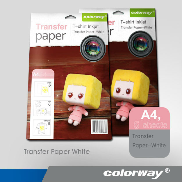 "Inkjet heat transfer iron on paper for light color fabric:8.5"" by 11"" -10 sheets"