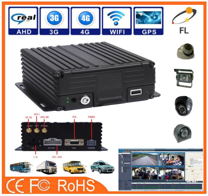 AHD 720P 960P 4CH 3G/4G full hd mobile dvr with embedded SSD+SD great price
