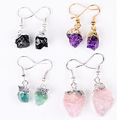 Yase wholesale natural purple stone flamingo green agate red clear crystal quartz flamingo home decoration