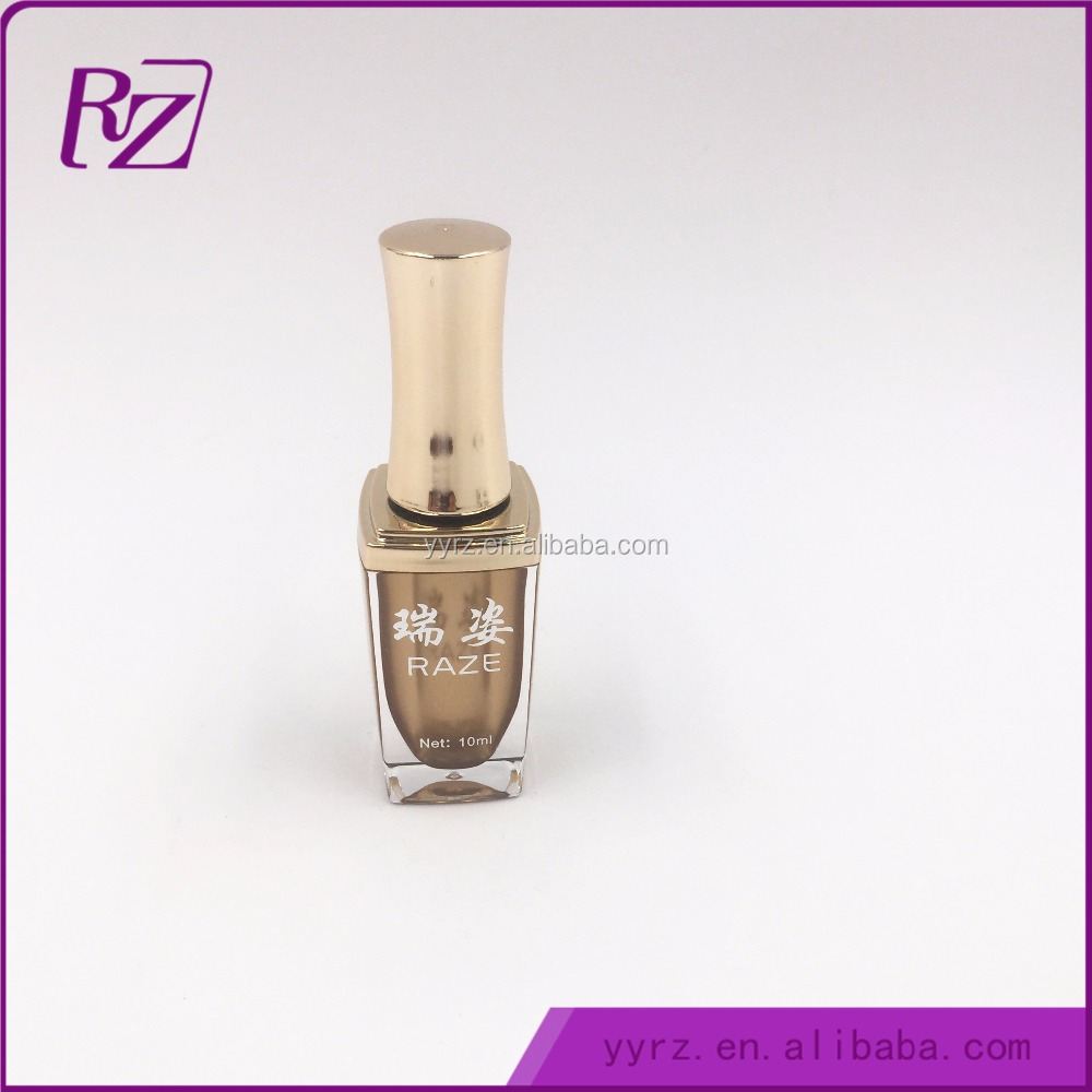 RZ10ml-G Beautiful Cap 10ml White Square Nail Polish Bottles