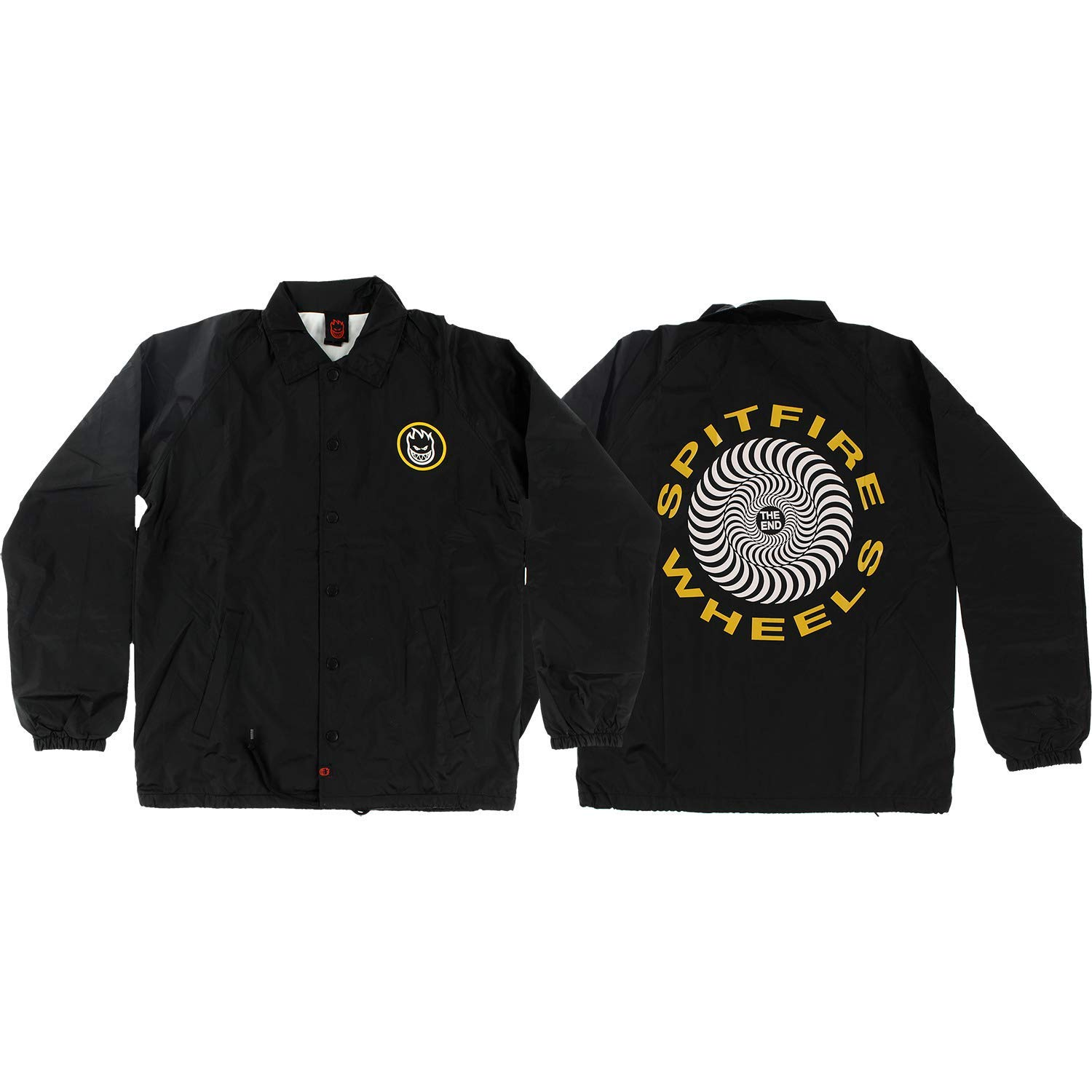 5dbc33989f Get Quotations · Spitfire Wheels Retro Classic Black/Yellow Coaches Jacket  - Small