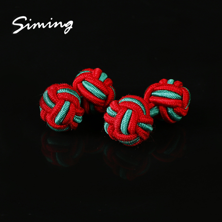 Bulk wholesale new fashion custom colorful elastic silk knot cufflinks