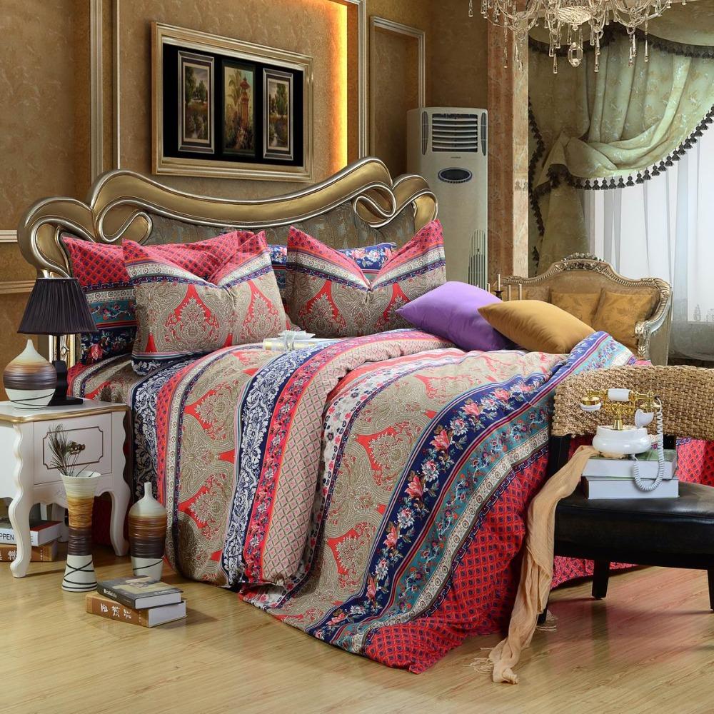 New Arrival Luxury Fleece Fabric 4pcs 100 Cotton Boho