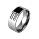 The New European and American Fashion Titanium Steel Couples Ring High-End Jewelry of Big Yards