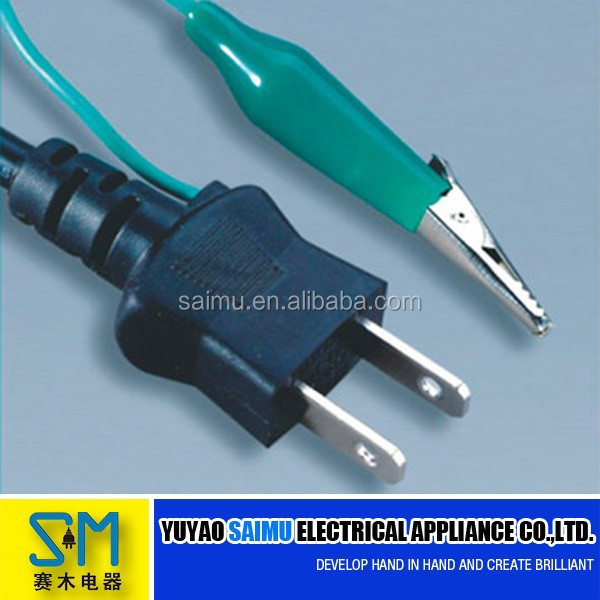 Japanese Three Pin Power Extension Cord Plug With Hairtail - Buy ...