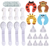 Baby Safety Kit Child Safety Cabinet Locks Corner Guards Door Stopper on amazon