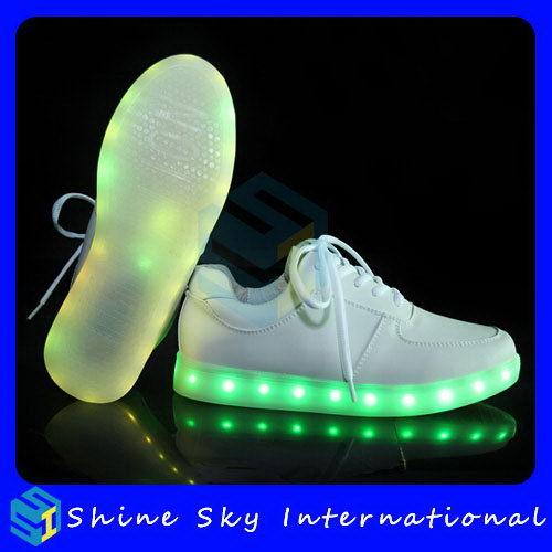 fb36958e007a High quality LED platform sandals 7 colors changed USB rechargeable  luminous women shoes sandals