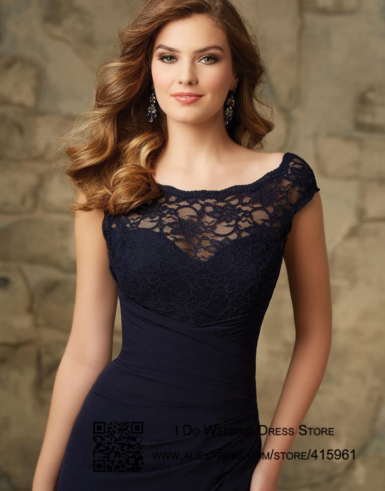 robe longue bleu marine mariage la mode des robes de france. Black Bedroom Furniture Sets. Home Design Ideas