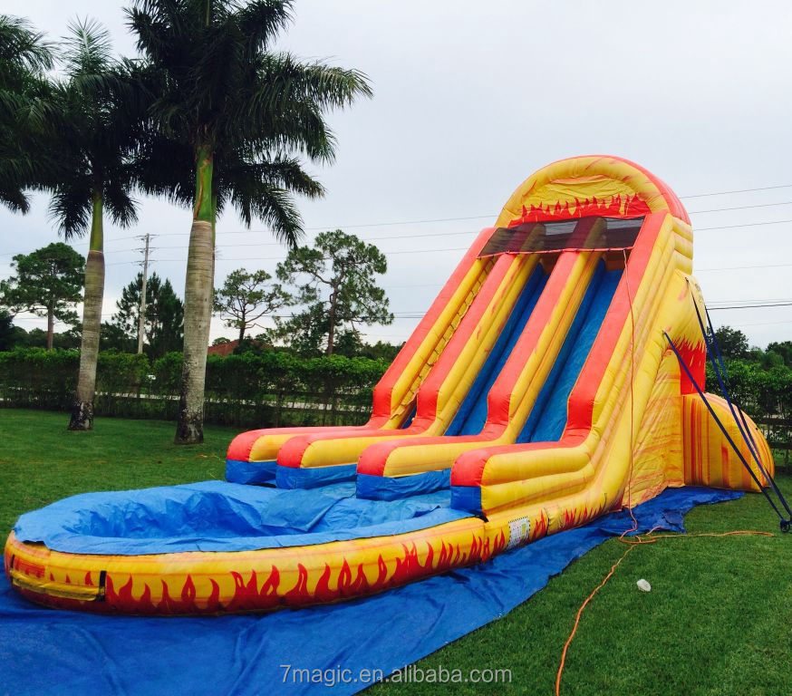 Fire Ball Inflatable Waterslide for kids and adults