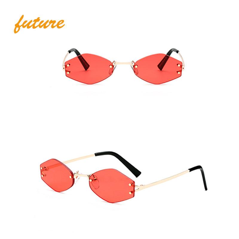 Small Alloy Sunglasses 2019 Faashionable Women Sun Glasses New Arrival Vintage Eyewear KD7102, Black;tea;gold;grey;green;red;yellow