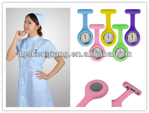 Silicone FOB Pocket Nurse Watches+12 Colors