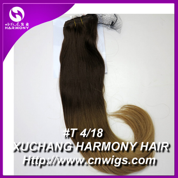 Stock 20 Inch 260g Clip In Layer Hair Extensiondouble Weft Clip In