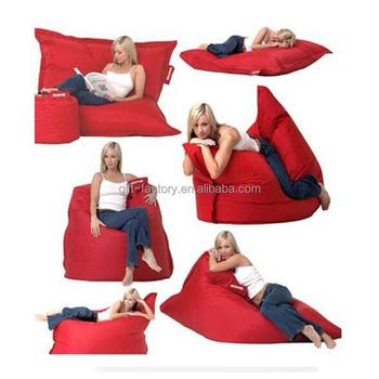 Outdoor Waterproof Bean Bag Chair Backrest Square Refill