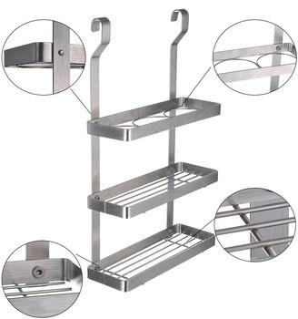 esylif 3 tier k che wand metall h ngen gew rzregal organizer silber buy kitchen spice. Black Bedroom Furniture Sets. Home Design Ideas