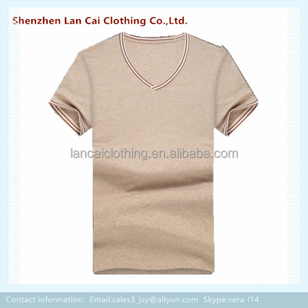 blank dry fit t shirt for men v neck cotton fabric tops tees
