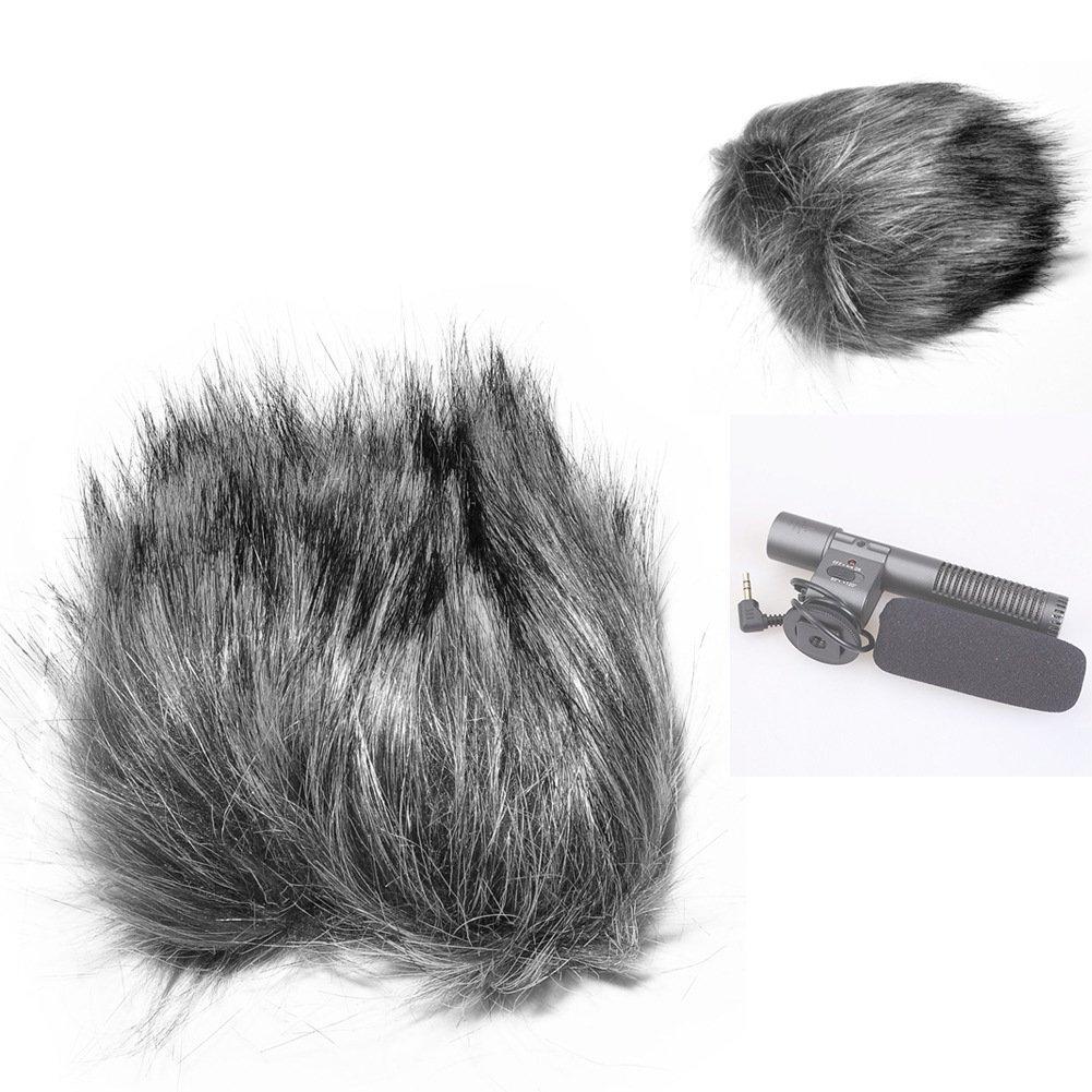 Fomito EN-4 12inch Furry Outdoor Microphone Windscreen Wind Cover Muff for Shenggu Shotgun SG-108 Microphone & Similar Mics - Gray